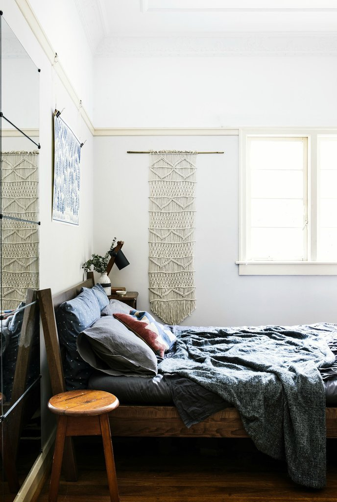 white-woven-wall-hanging-adds-subtle-interest-without-detracting